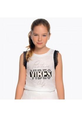 "Camiseta tirantes ""vibes"" Mayoral niña"