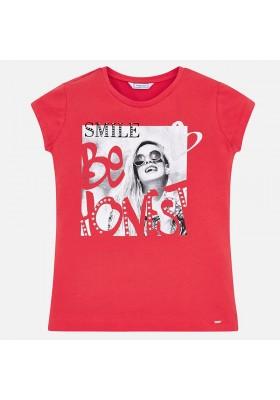Camiseta manga corta serigrafia Mayoral niña