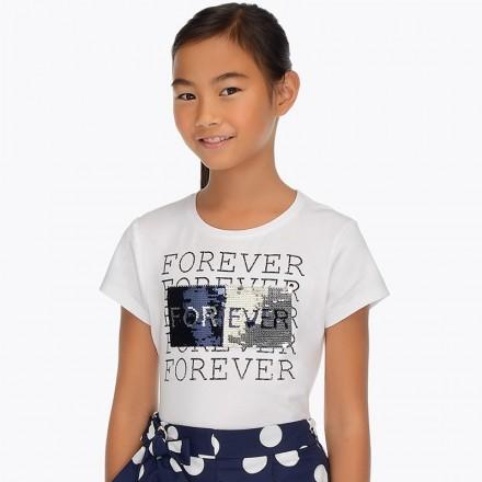 Camiseta manga corta lentejuelas Mayoral niña
