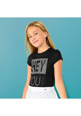 Camiseta manga corta apliques Mayoral niña