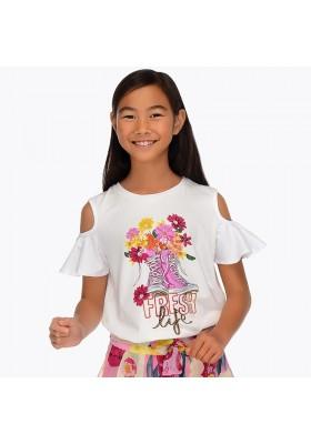 Camiseta manga corta zapatillas Mayoral niña