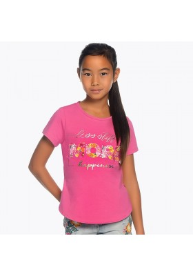 "Camiseta manga corta ""more"" Mayoral niña"