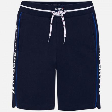 Pantalón corto felpa bandas Mayoral niño