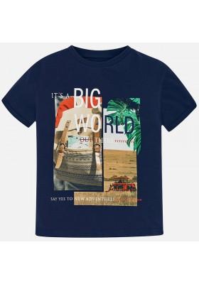 "Camiseta manga corta ""big world"" Mayoral niño"
