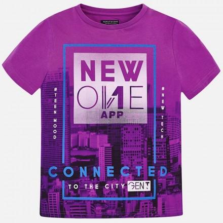 "Camiseta manga corta ""new one"" Mayoral niño"