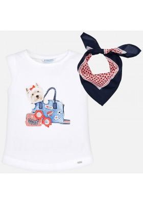 Camiseta tirantes pañuelo Mayoral niña