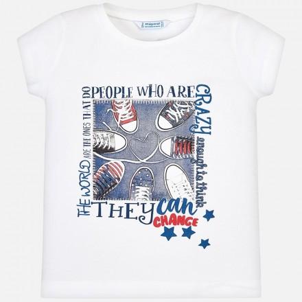 Camiseta manga corta grafica Mayoral niña