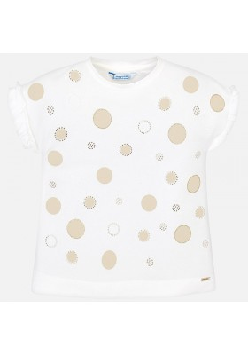 Camiseta manga corta topos fantasia Mayoral niña