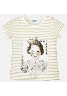 Camiseta manga corta rayas niña Mayoral niña