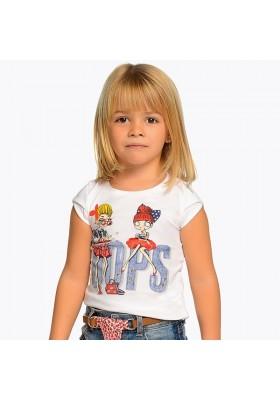 "Camiseta manga corta muñecas ""oops"" Mayoral niña"