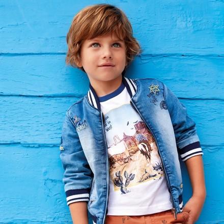 Camiseta manga corta aplique Mayoral niño
