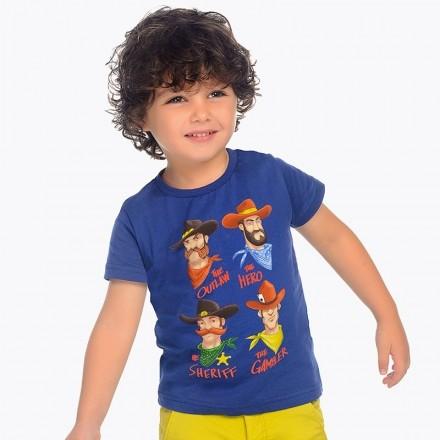"Camiseta manga corta ""cowboys"" Mayoral niño"