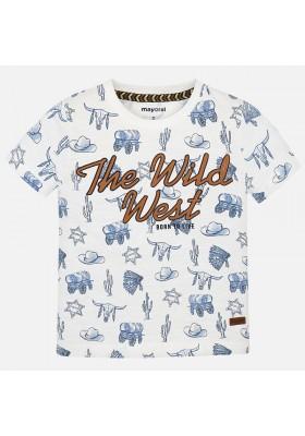 Camiseta manga corta estampada Mayoral niño