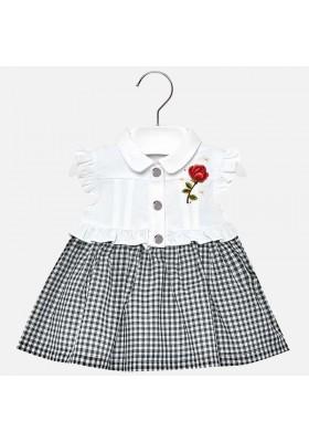 Vestido combinado vichy Mayoral bebe niña