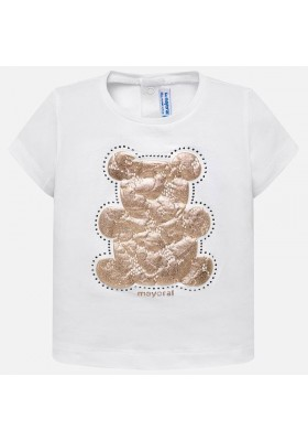 Camiseta manga corta basica Mayoral bebe niña