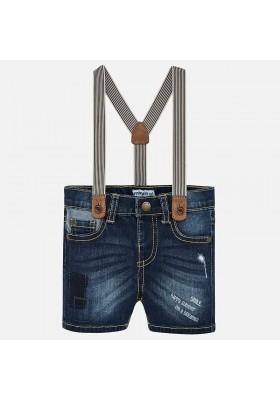 Pantalón corto tejana tirantes Mayoral bebe niño