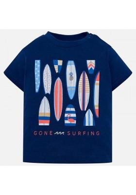Camiseta manga corta tablas surf  Mayoral bebe niño