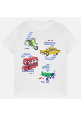 "Camiseta manga corta ""4 3 2 1""  Mayoral bebe niño"