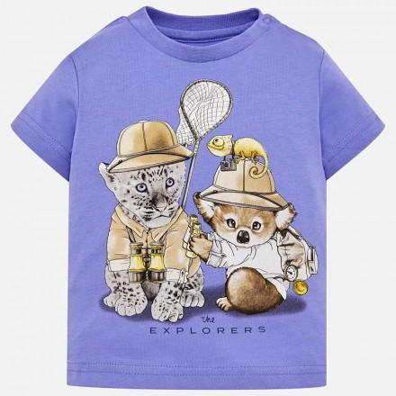 "Camiseta manga corta ""the explorers"" Mayoral bebe niño"