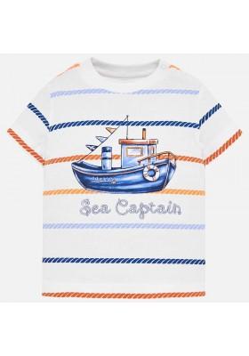 Camiseta manga corta rayas Mayoral bebe niño