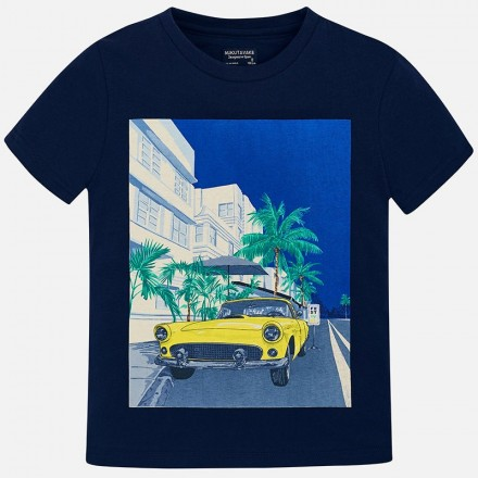 "Camiseta manga corta ""car"" Mayoral niño"