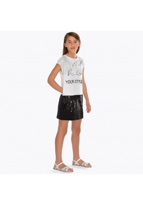 Vestido punto combinado Mayoral niña