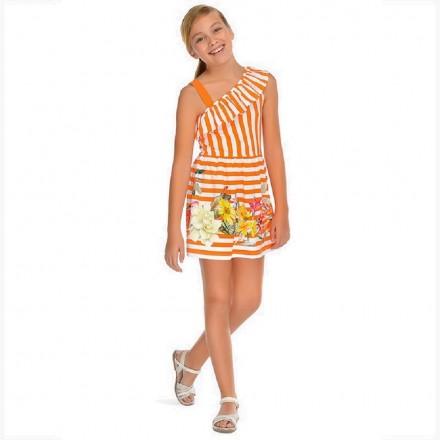 Vestido rayas serigrafia Mayoral niña
