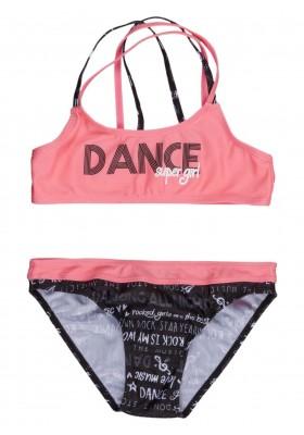 Bikini con braguita toda estampada y top para chica Losan 914-4002