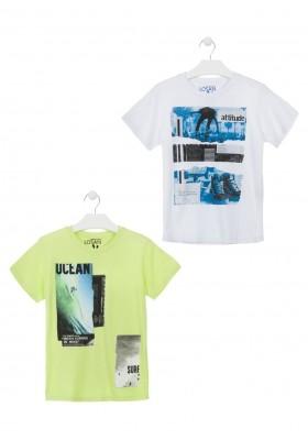 Camiseta de color verde surfera para chico Losan 913-1208