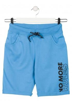 Bermuda con vuelta en el bajo de color azul para chico Losan 913-6602