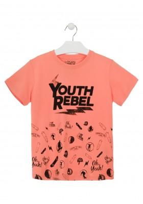 Camiseta de manga corta de color naranja para chico Losan 913-1025