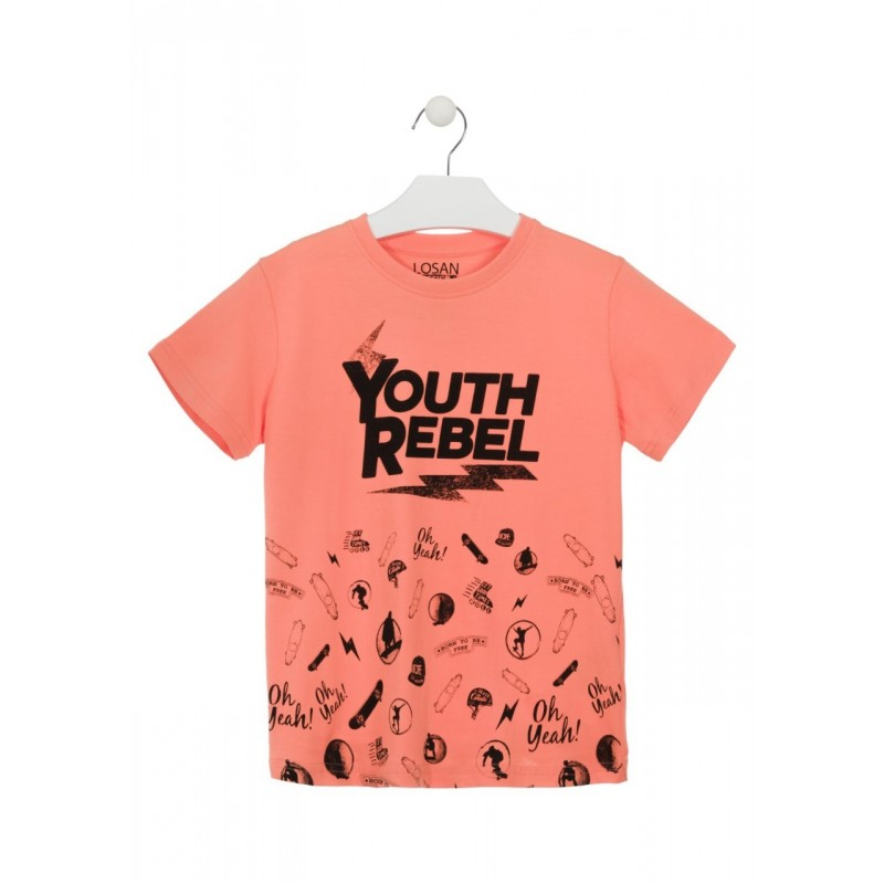 a35806176 Compra Camiseta de manga corta de color naranja para chico Losan 913 ...