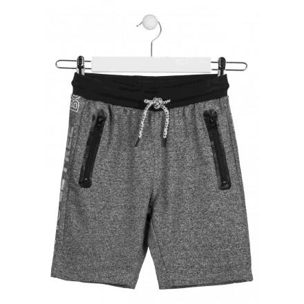Bermuda de color gris con cintura de color negro para chico Losan 913-6026