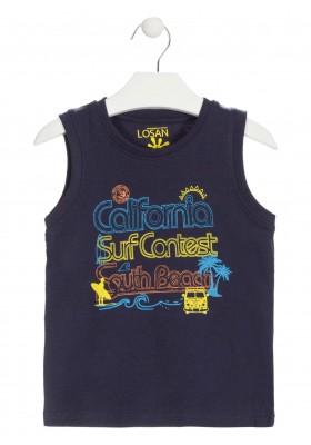Camiseta con estampado playero de color azul para niño Losan 915-1302