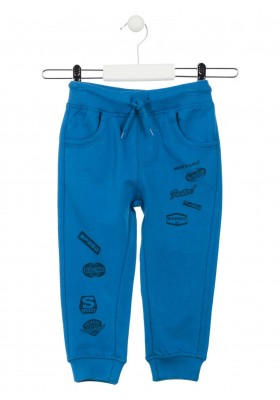 Pantalón de color azul de felpa para niño Losan 915-6037