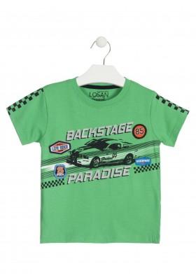 Camiseta de color verde de manga corta para niño Losan 915-1034
