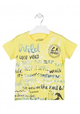 Camiseta de color amarillo de manga corta para niño Losan 915-1005
