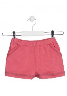 Short de color rojo de punto para niña Losan 916-6020