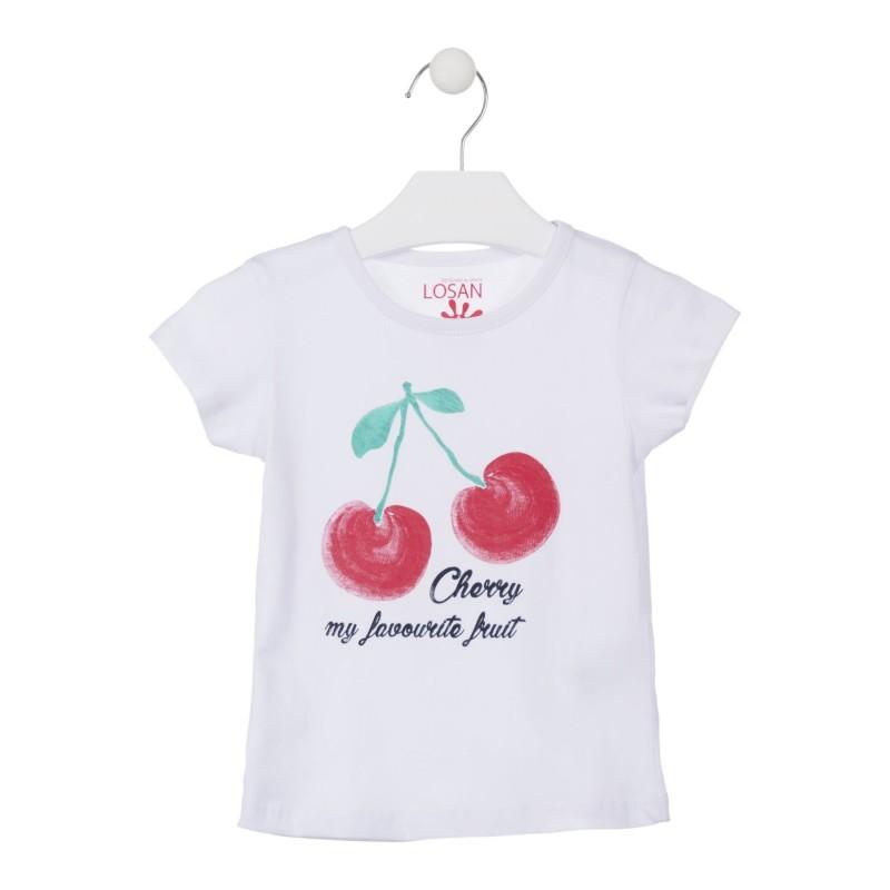 31ef579b3 Compra Camiseta con cereza estampada color blanca para niña Losan ...