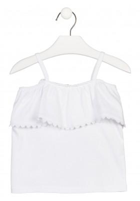 Camiseta de tirantes en color blanco para niña Losan 916-1014