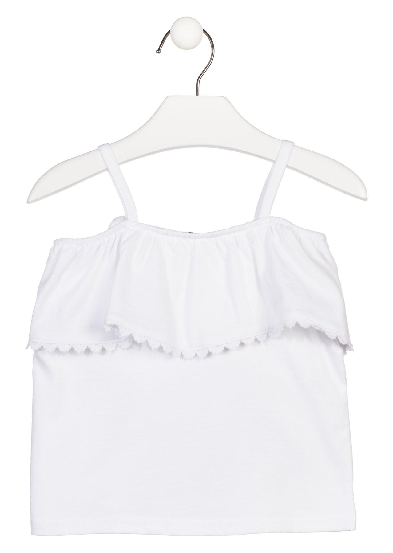094750eae Compra Camiseta de tirantes en color blanco para niña Losan 916-1014