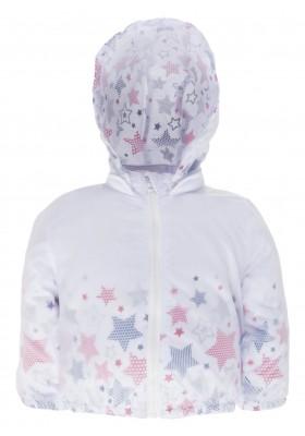 Cazadora en tejido transparente con capucha desmontable para bebé niña Losan 918-2002