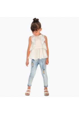 Pantalon largo tejano fantasi Mayoral niña modelo 3503