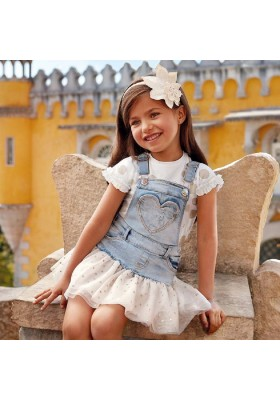 Falda peto tejano tul glitter Mayoral niña modelo 3905