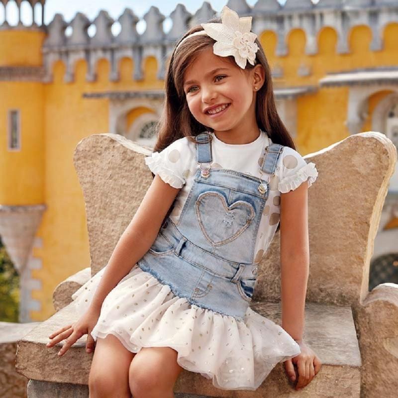 320248cac Falda peto tejano tul glitter Mayoral niña modelo 3905. Loading zoom