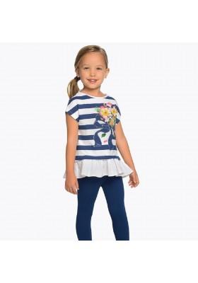 Conjunto de  leggings rayas flor Mayoral niña modelo 3704
