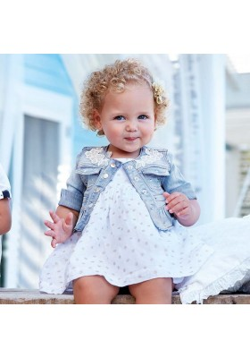 Cazadora tejana Mayoral bebe niña modelo 1416