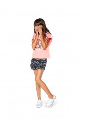 Camiseta corta con tiras cruzadas en la espalda para niña Losan 914-1013
