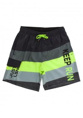 Bañador de microfibra de color gris y verde para chico Losan 913-4014