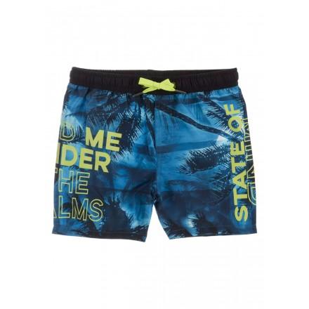 Bañador estampado de color azul para chico Losan 913-4006